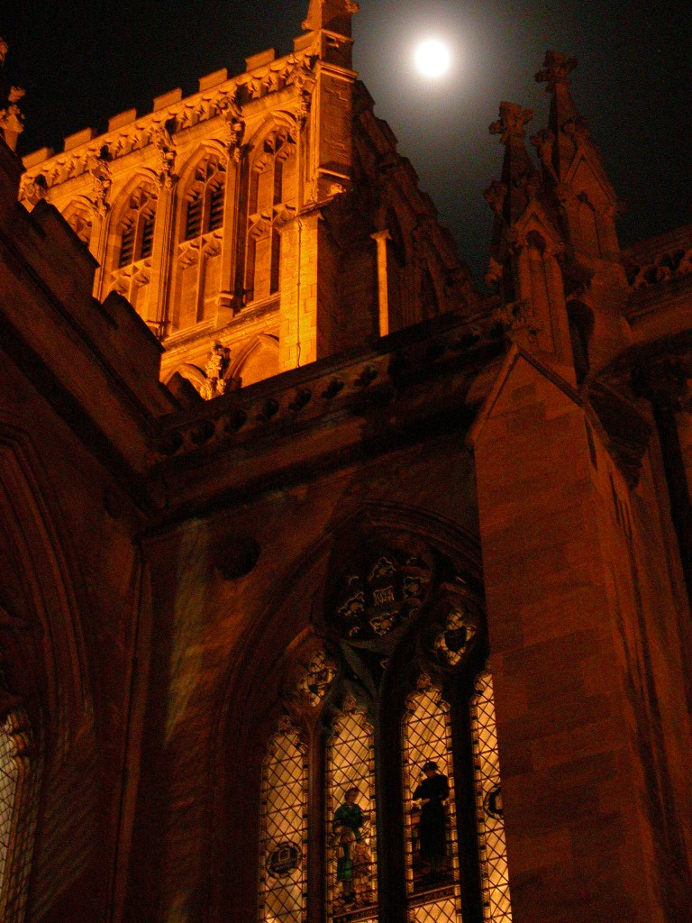 Moon over Bristol Cathedral