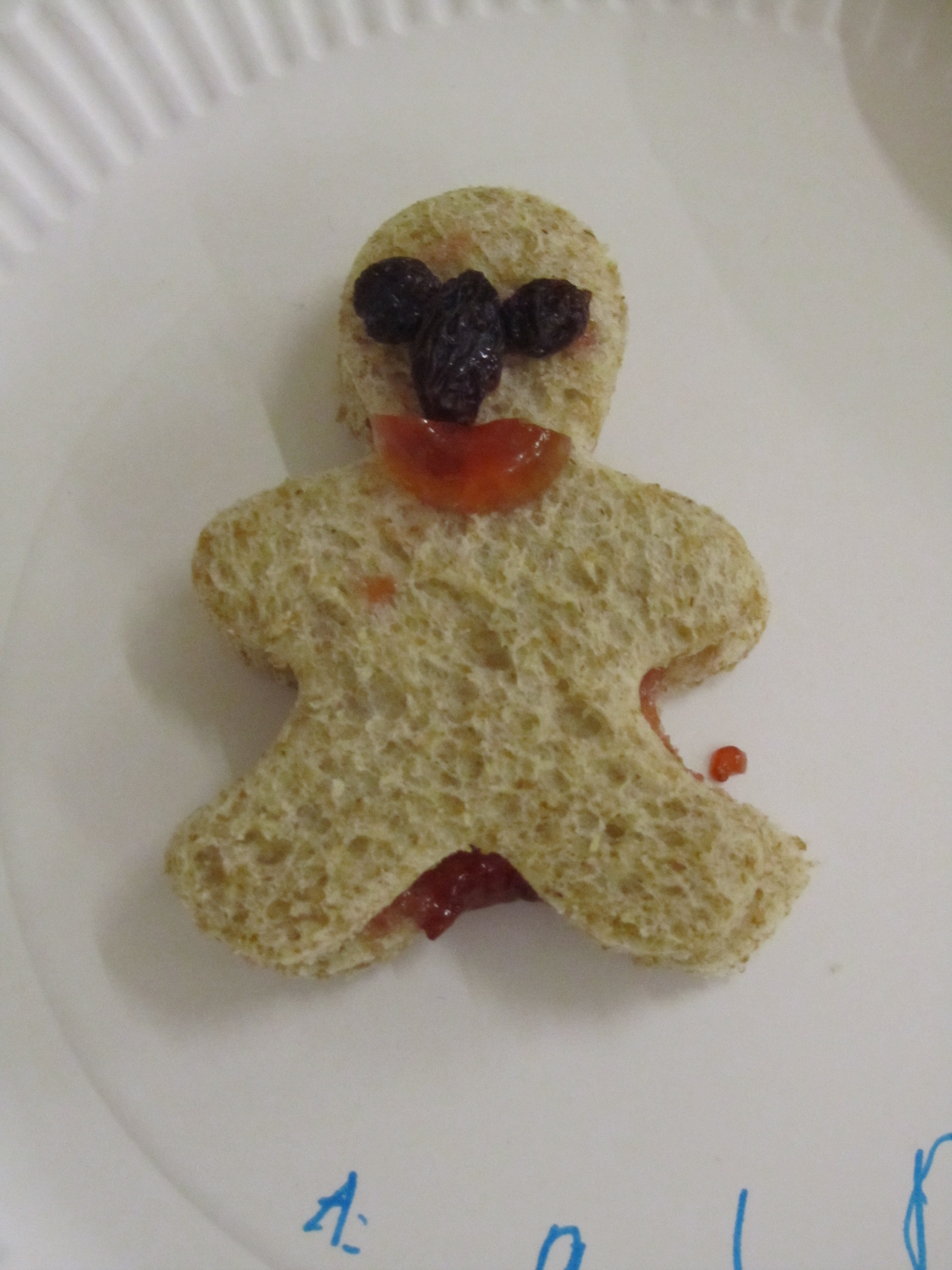 A person made out of bread